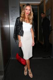 Lauren Pope Night Out Style - at Nobu Restaurant in Mayfair - October 2014