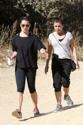 Lea Michele - Hiking With Her Mom in California - October 2014