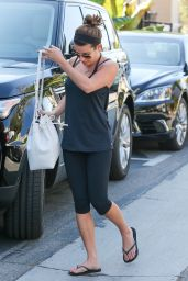 Lea Michele in Leggings - Going to a Spa in Los Anglees, October 2014