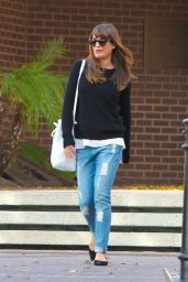 Lea Michele in Ripped Jeans - Out in West Hollywood, October 2014