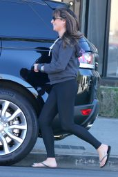 Lea Michele in Tights - Out in Los Angeles, October 2014