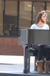 Lea Michele on the Set of