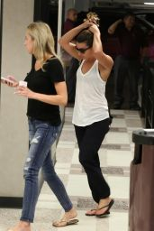 Lea Michele Street Style - Running Errands in Los Angeles, October 2014