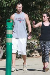 Lea Michele - With Matthew Paetz on a Hike in California - October 2014