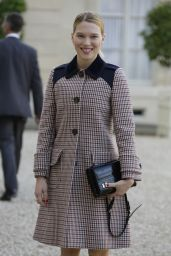 Lea Seydoux Style - Arrives at the Elysee Palace in Paris