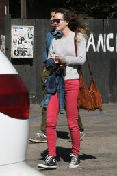 Leighton Meester Street Style - Out in Los Angeles, Oct. 2014