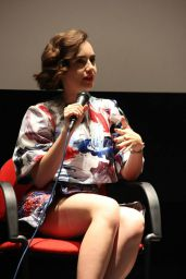 Lily Collins Leggy - Q&A Session for