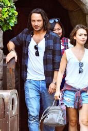 Lily Collins - Out on a Date at Disneyland, September 2014
