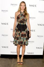 Lindsay Ellingson at The Visionary World of Vogue Italia Exhibition Opening Night in New York