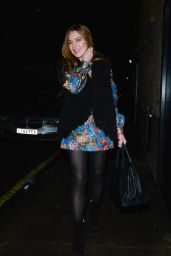 Lindsay Lohan Night Out Style - Leaves the Chiltern Firehouse in London - October 2014