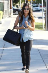 Lucy Hale Street Style - Out in Beverly Hills, October 2014
