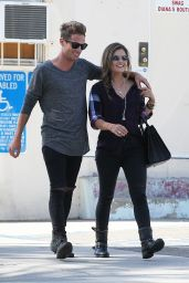 Lucy Hale Street Style - With Her Boyfriend Out in Los Angeles - October 2014