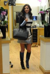 Lucy Mecklenburgh in Mini Skirt and Boots - Out in London - October 2014