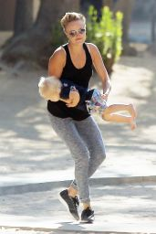 Malin Akerman - With Her Son at the Park in Los Angeles, Sept. 2014