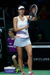 Maria Sharapova – 2014 WTA Finals in Singapore (vs Agnieszka Radwanska)