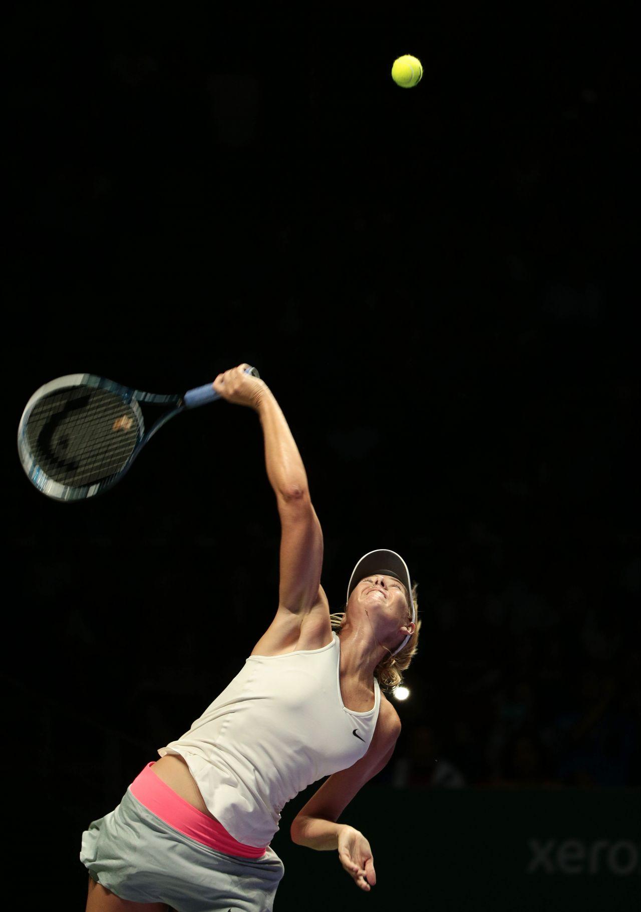 Maria Sharapova – 2014 WTA Finals in Singapore (vs Caroline Wozniacki)