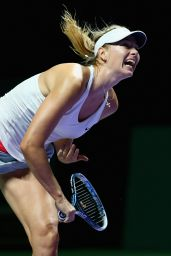 Maria Sharapova – 2014 WTA Finals in Singapore (vs Petra Kvitova)