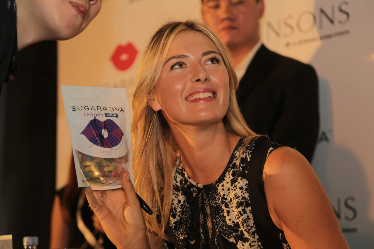 Maria Sharapova Launches Sugarpova Sweets in Singapore - October 2014