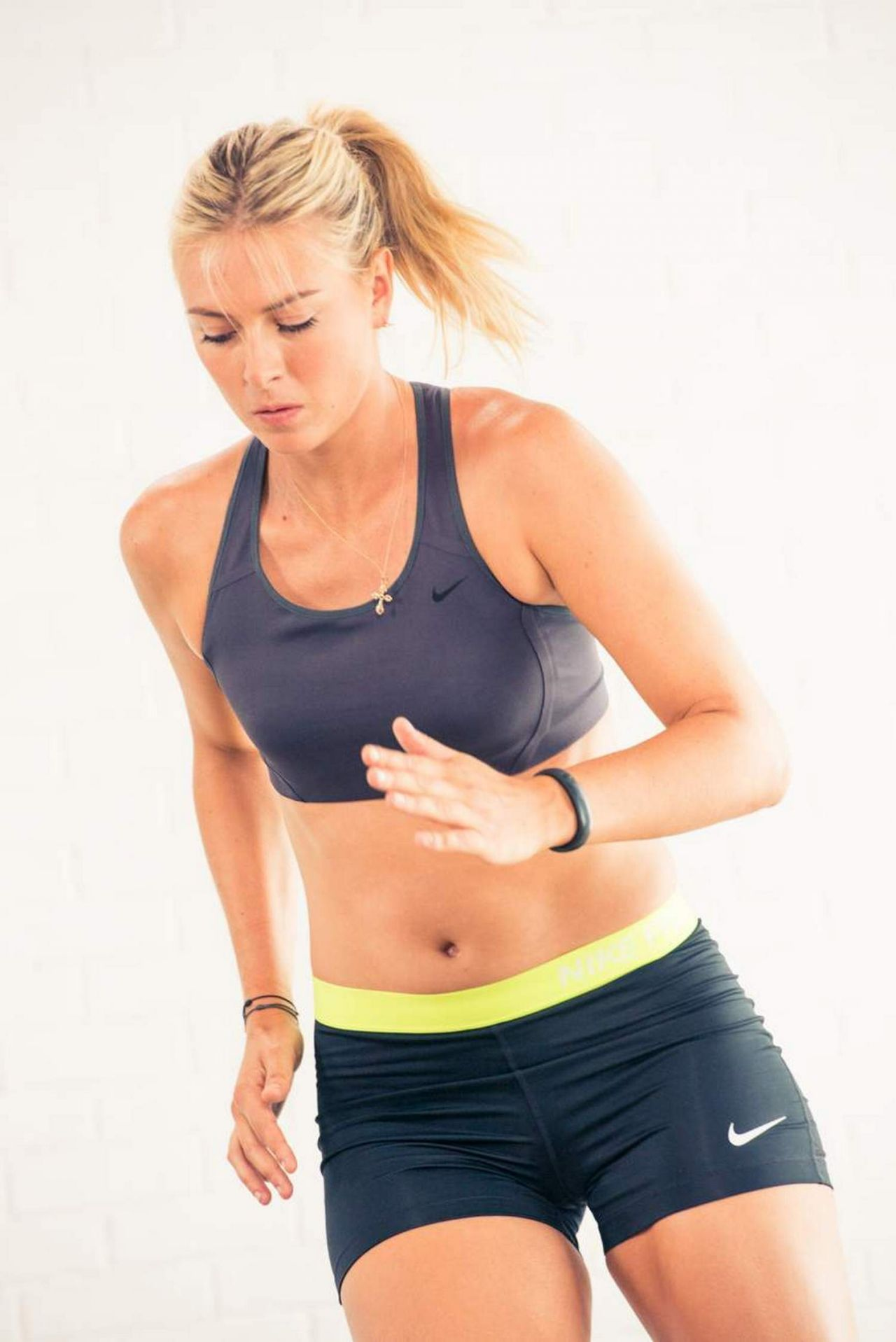 Maria Sharapova - Working Out for a Nike Photoshoot - July 2014
