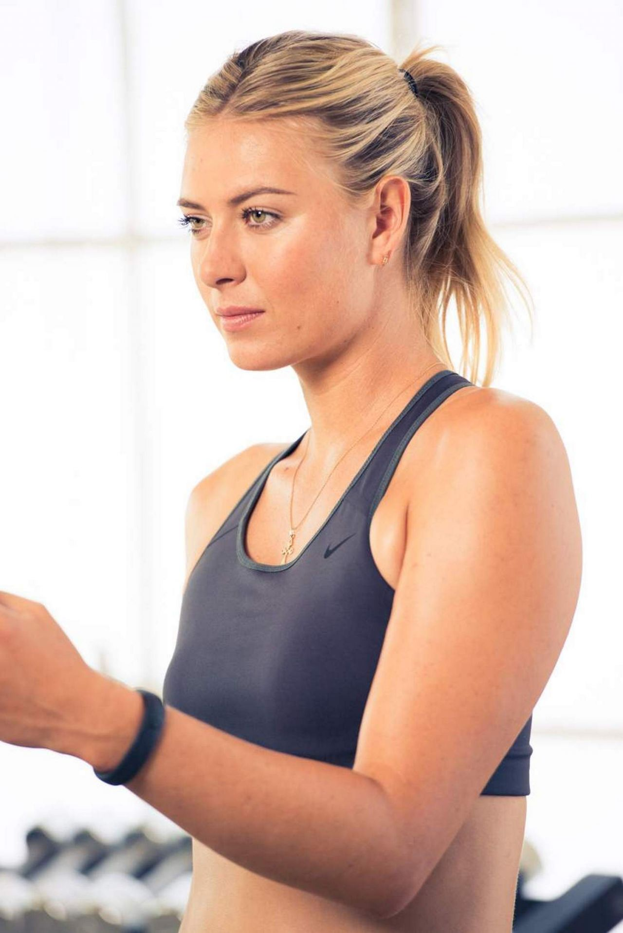 Maria Sharapova Working Out For A Nike Photoshoot July