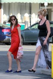 Melanie Griffith & Dakota Johnson - Out at a Hand & Foot Spa in Los Angeles - Oct. 2014