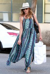 Michelle Monaghan in Long Summer Dress - Out in Beverly Hills - October 2014