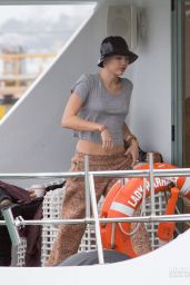Miley Cyrus on a Boat trip to Waiheke Island - October 2014