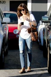 Minka Kelly Street Style - Out in Beverly Hills, October 2014