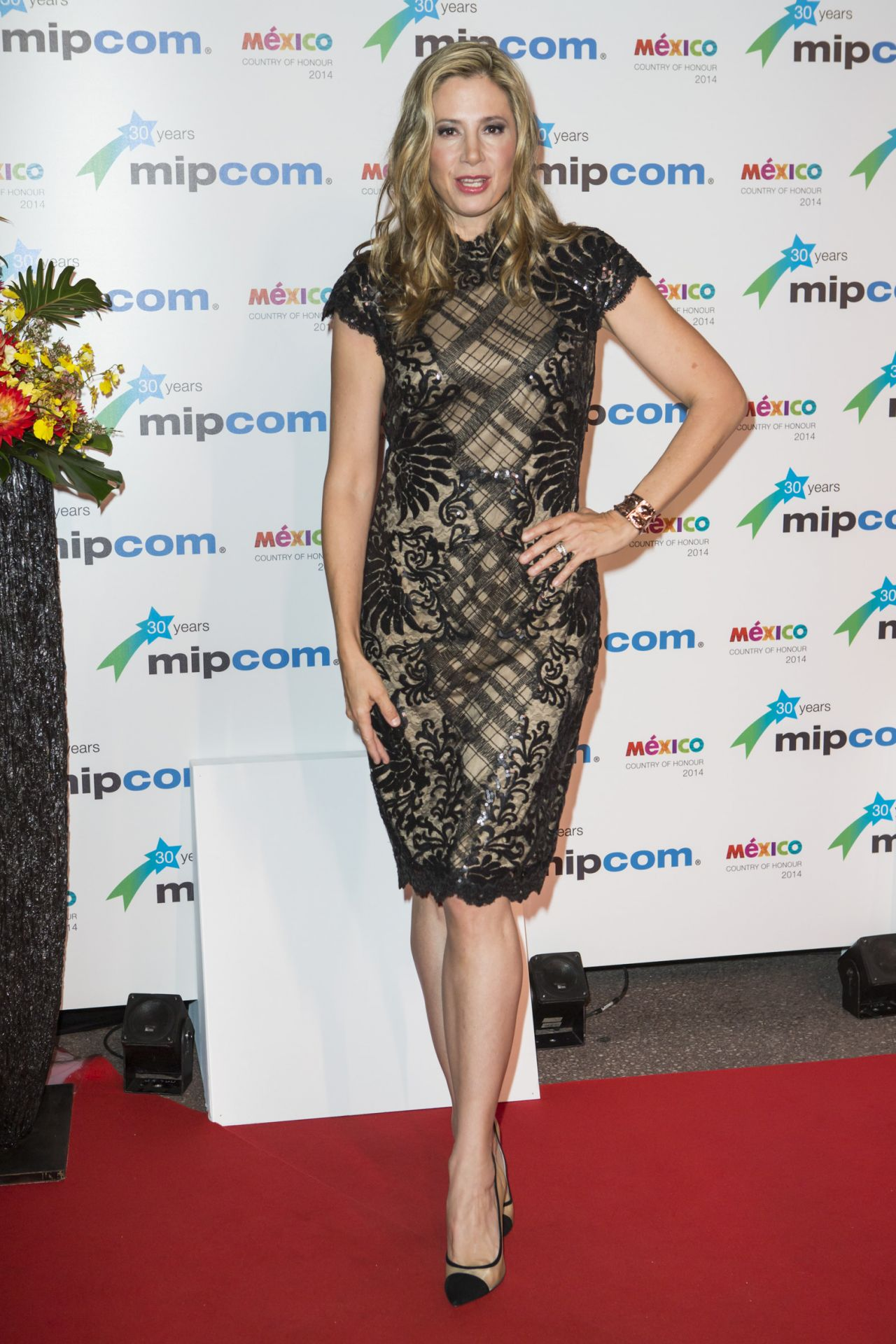 Mira Sorvino – MIPCOM 2014 Opening Party at the Hotel Martinez in Cannes, France