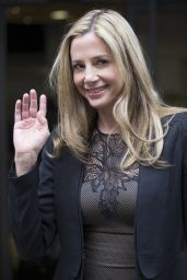 Mira Sorvino - Visits BBC Radio 2 in London - October 2014