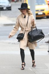 Naomi Watts Street Style - Out in New York City - October 2014