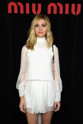 Nicola Peltz - Paris Fashion Week - Miu Miu Show, October 2014