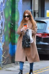 Nicola Roberts - Arriving at a Recording Studio in West London - October 2014