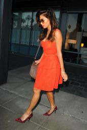 Nicole Scherzinger - Leaving The Live Nation Offices in Los Angeles, October 2014