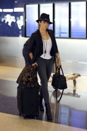 Nikki Reed in Tight Jeans - Checking in at LAX Airport - October 2014