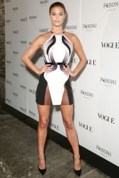 Nina Agdal in Alon Livné 2015 Dress -  The Vogue Italia Opening Night Exhibition in New York City
