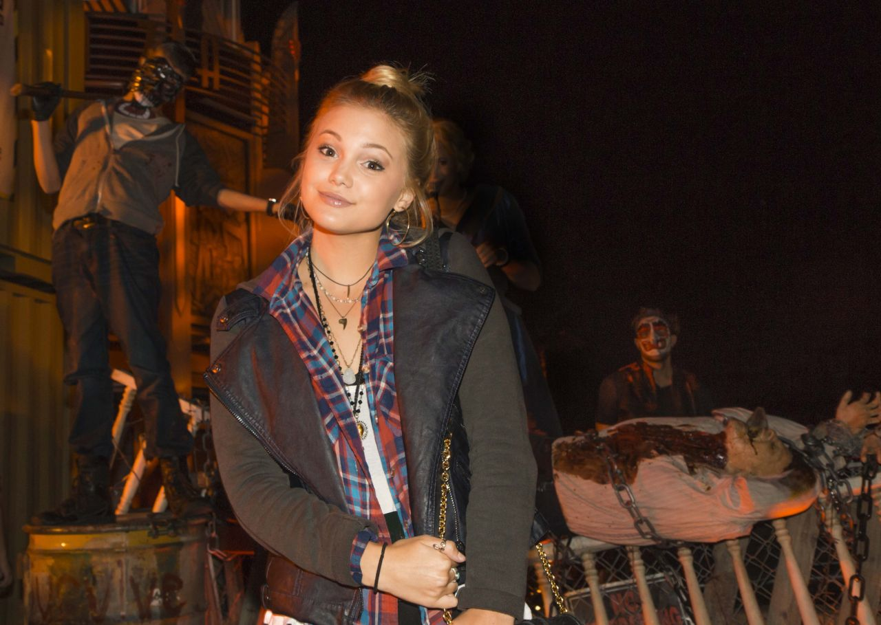 Olivia Holt - Halloween Horror Nights 2014 in Universal City