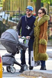Olivia Wilde Stroll with Jason Sudeikis and Baby - Out in New York City - October 2014