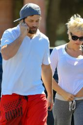 Pamela Anderson Street Style - Out in Malibu, October 2014