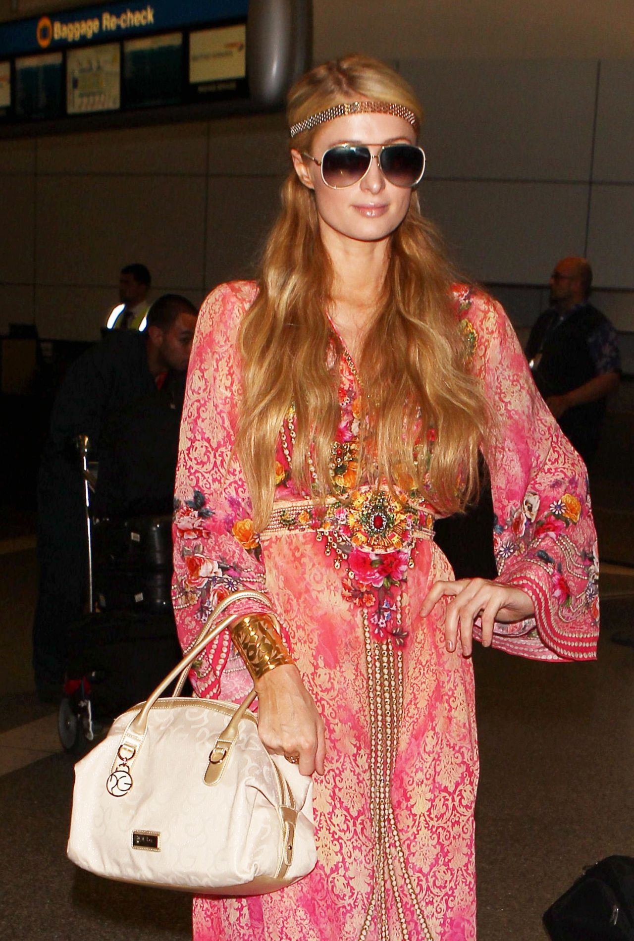 Paris Hilton - Arriving at LAX Airport, October 2014