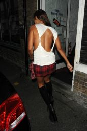 Precious Muir in Mini Skirt - Out in London, October 2014