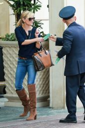 Reese Witherspoon in Brown Boots - Stops by the Peninsula Hotel in Beverly Hills