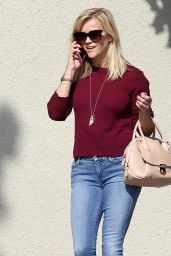 Reese Witherspoon in Jeans - out in Santa Monica, October 2014