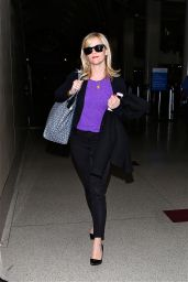 Reese Witherspoon Style - at LAX Airport - October 2014