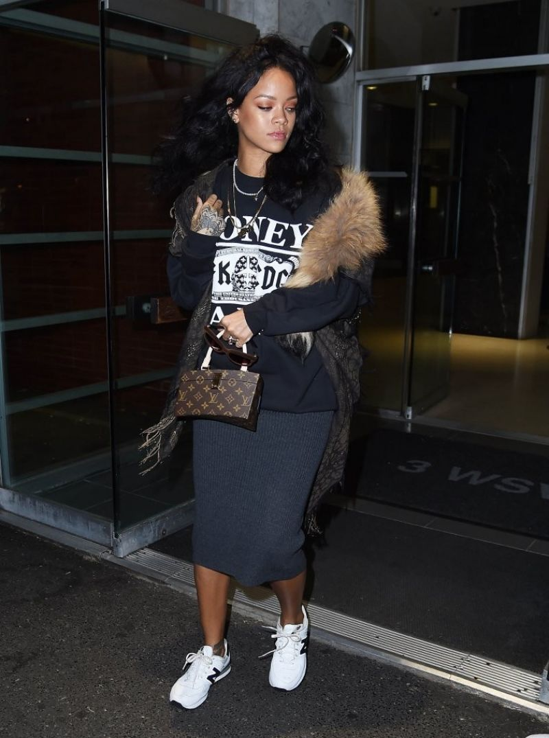 Rihanna Casual Style Leaving A Dentist Office In New