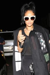 Rihanna Night Out Style - at Giorgio Baldi in Santa Monica - October 2014