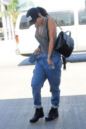 Rihanna Street Style 2014 - At LAX Airport