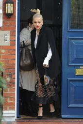 Rita Ora Style - Leaving Her Home in London - October 2014