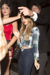 Sarah Hyland Night Out Style - at Warwick Nightclub in Hollywood - October 2014