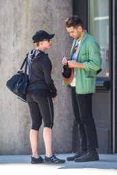 Scarlett Johansson Booty in Tights - Out in New York City - Oct. 2014